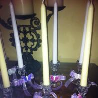 Decorated Quinceanera Candles