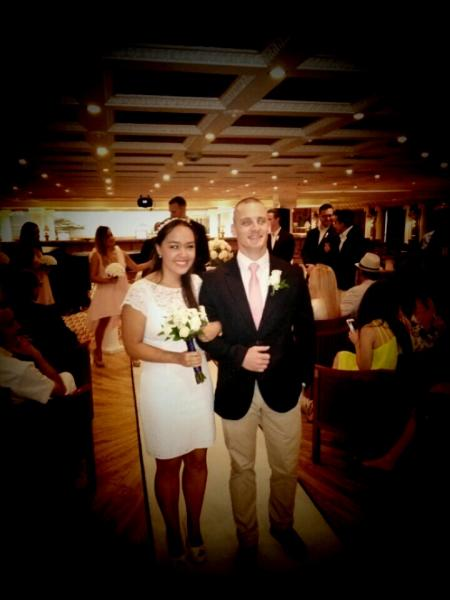 Juana Lopez and Justin Archer, July 2, 2015. Carnival Cruise Lines