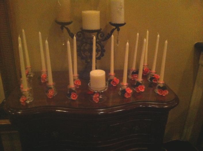Quinceanera Candles display